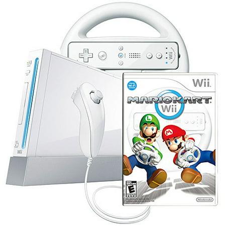 Nintendo White Wii Console w/ Mario Kart