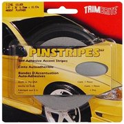 TRIMBRITE T1246 Pinstripe Tape, Silver, 0.25 In. X 36 Ft.