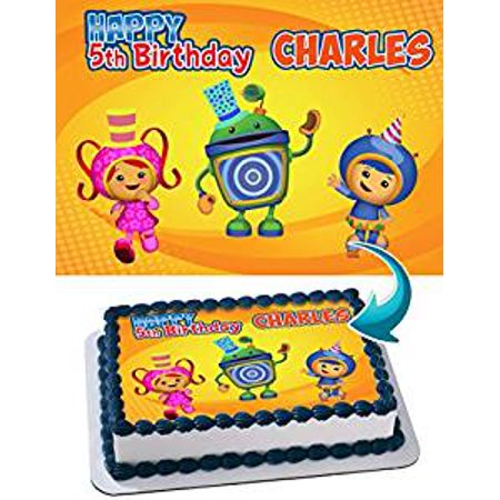 Team Umizoomi Halloween Party (Team Umizoomi Edible Image Cake Topper Personalized Icing Sugar Paper A4 Sheet Edible Frosting Photo)