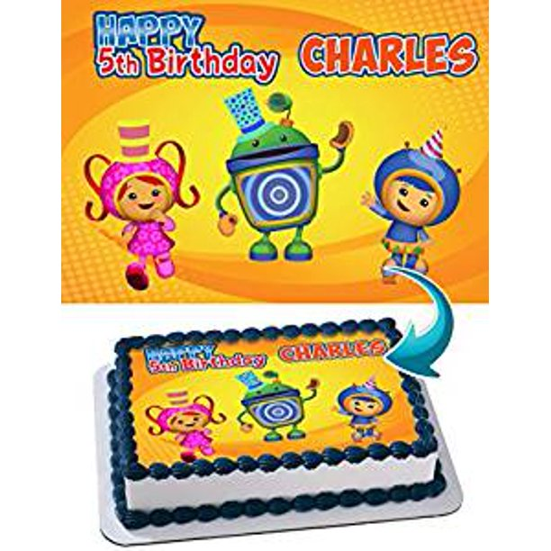 Tremendous Team Umizoomi Edible Image Cake Topper Personalized Icing Sugar Personalised Birthday Cards Paralily Jamesorg