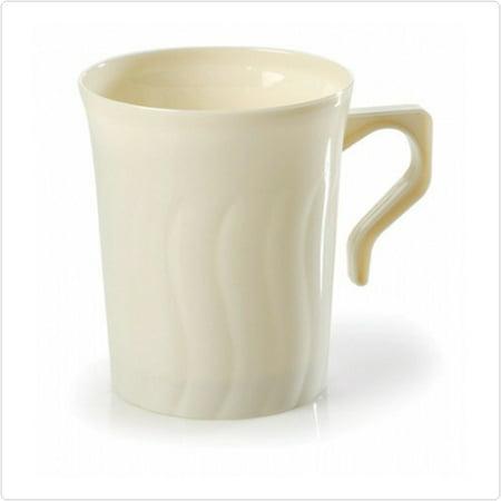 Plastic Coffee Mug (Beige Flairware 8 oz Plastic Coffee Mugs,Pack of 8)