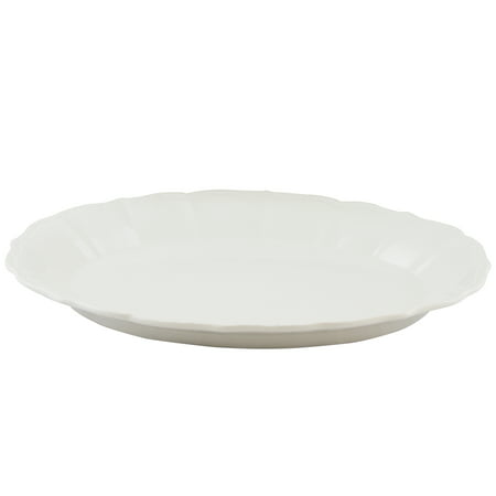 Gibson Home Café Posh Oval Durastone Embossed Platter in
