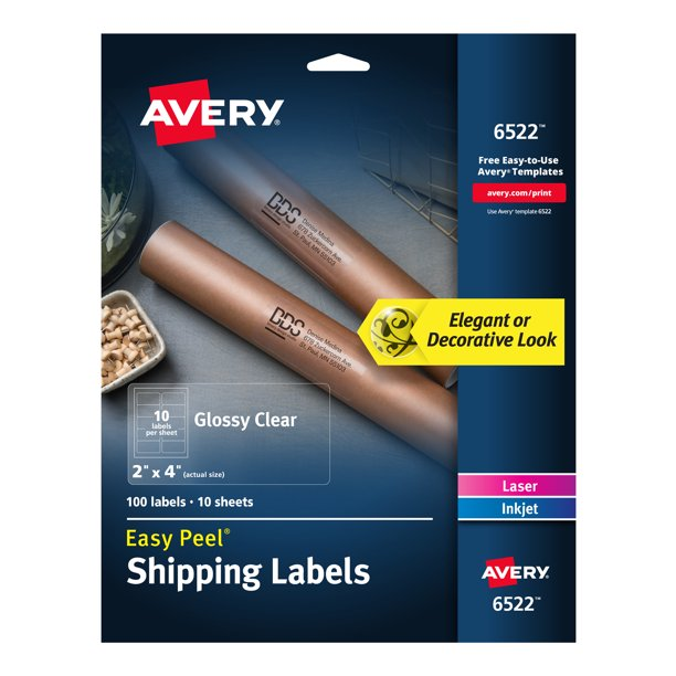 This is an image of Hilaire Avery Labels 8293 Walmart