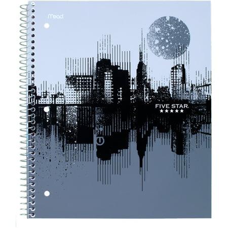 Five StarGraphics Notebook, CollegeRule, Black/Gray