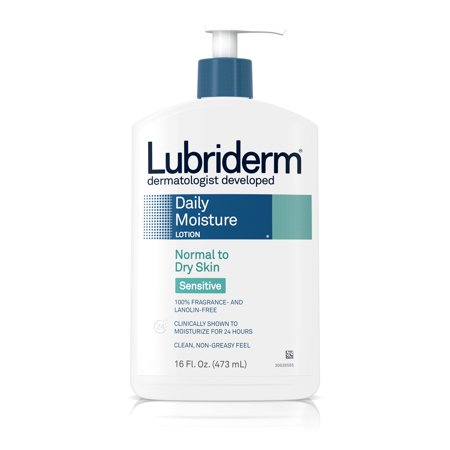 - Lubriderm Daily Moisture Body Lotion for Sensitive Skin, 16 fl. oz