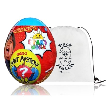 Ryans World Giant Mystery Egg Series 2 Blue (Limited Edition) with Pack A Hatch
