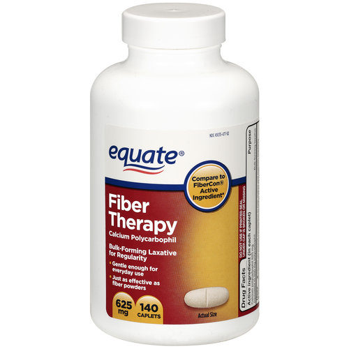 Equate Fiber Therapy Bulk-Forming Laxative 625mg, 140ct