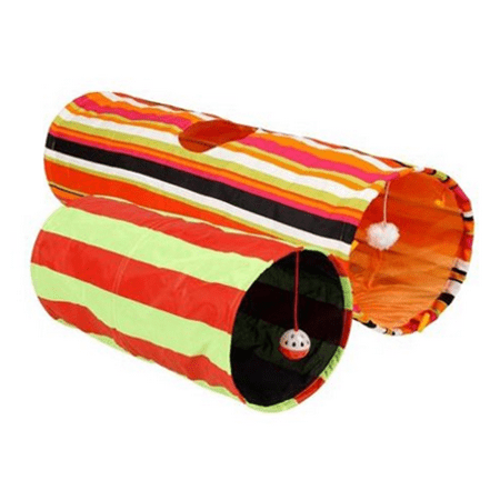 2 Pack Cat Toy ((2 pack) Collapsible Cat Tunnel Cat Toy)