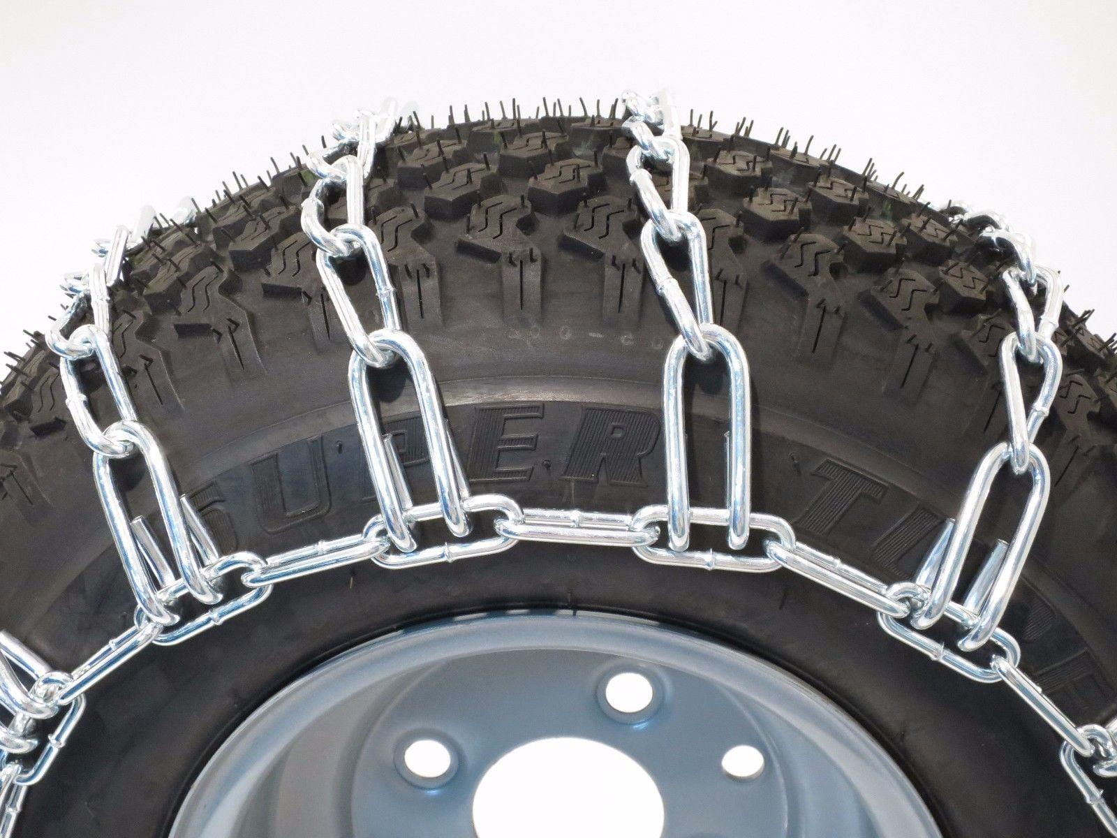 PAIR 2 Link TIRE CHAINS 16x6.5x8 16x6.5x6 for UTV ATV Vehicle Peerless MaxTrac