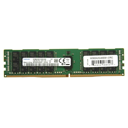 SAMSUNG Server Memory DDR4 16GB 288-Pin RDIMM Registered ECC DDR4-2400 CL17 (PC4-19200) 2Rx4 1.2V Model M393A2G40EB1-CRC (Single pack)