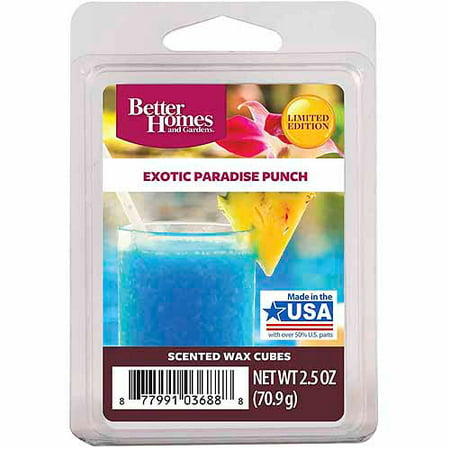 Better Homes & Gardens 2.5 oz Exotic Paradise Punch Scented Wax - Paradiso Garden