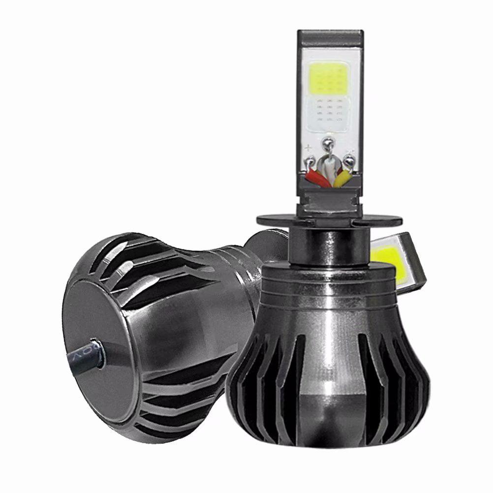 2Pcs H3 LED Lamp Headlight Driving Fog Light Bulb for Car, White + Blue