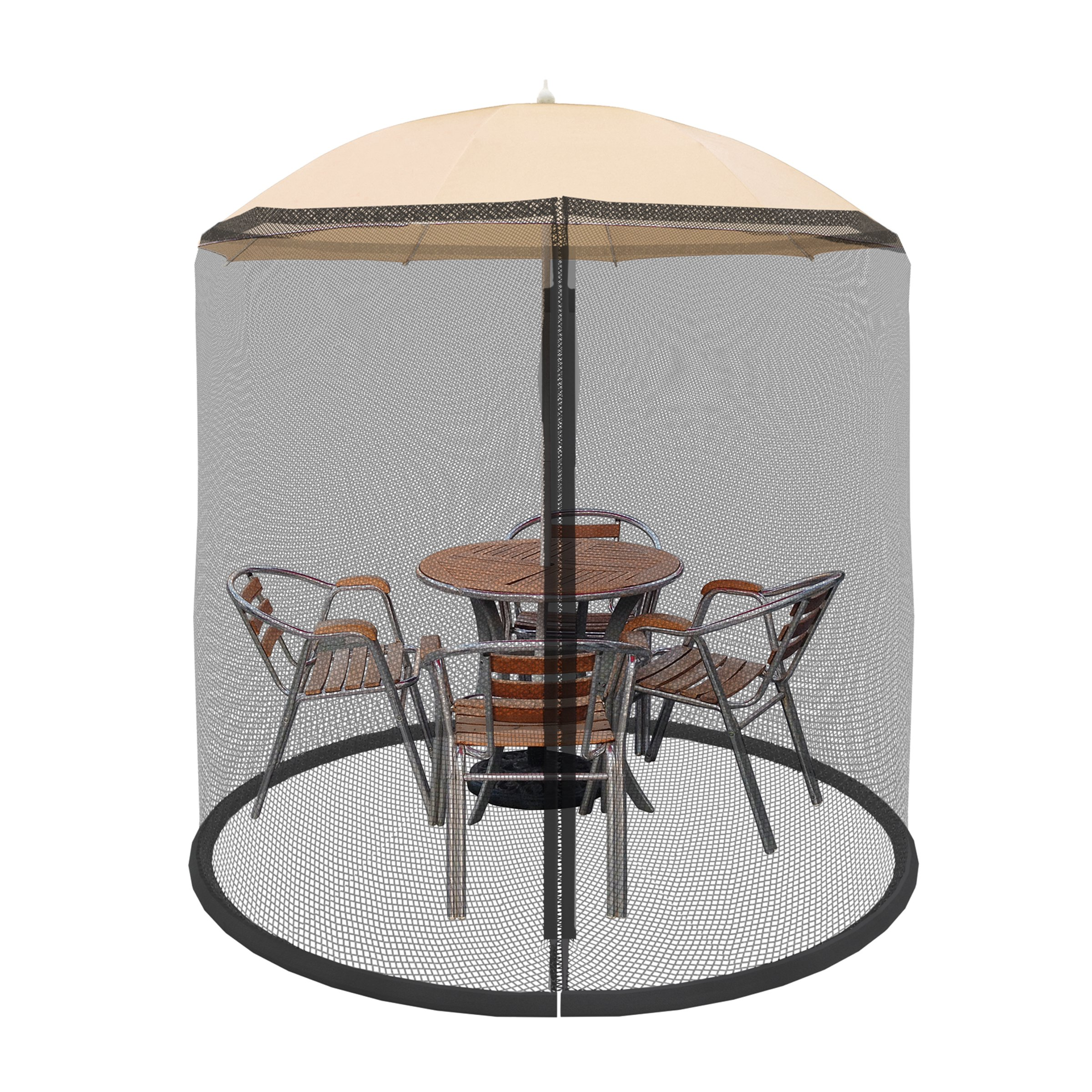 Patio Umbrella Cover Mosquito Netting Screen For Patio Table Umbrella,  Garden Deck Furniture  Zippered