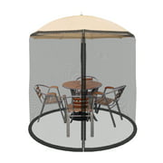Pure Garden Mosquito Netting Screen for Patio Table Umbrella, 7.5 ft. Diameter, Polyester