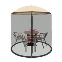 Patio Umbrella Cover Mosquito Netting Screen for Patio Table Umbrella, Garden Deck Furniture- Zippered Mesh Enclosure Cover by Pure Garden