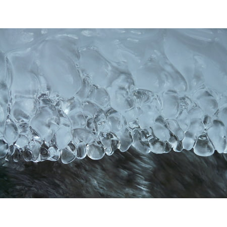 LAMINATED POSTER Eiskristalle Ice Pearls Crystals Iced Frozen Ice Poster Print 24 x 36