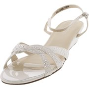 Dyeables Women's Lena White Ankle-High Fabric Sandal - 9.5M