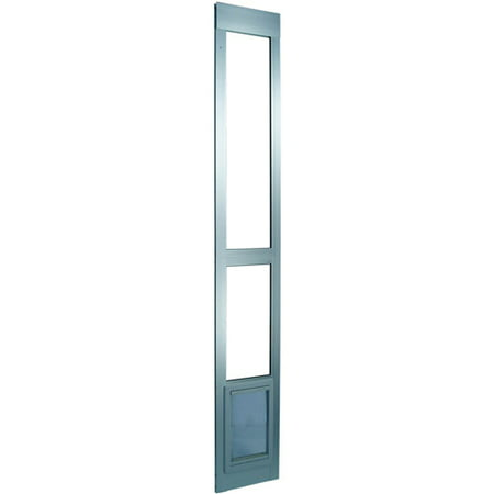 Ideal Modular Aluminum Patio Pet Door Mill Finish, Medium ()