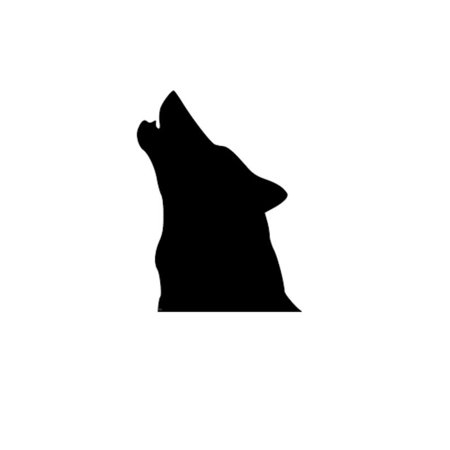 Pack of 3 Howling Wolf Head Only Stencils, 11x14, 8x10 and 5x7 Made From 4 Ply Matboard](Three Headed Wolf)