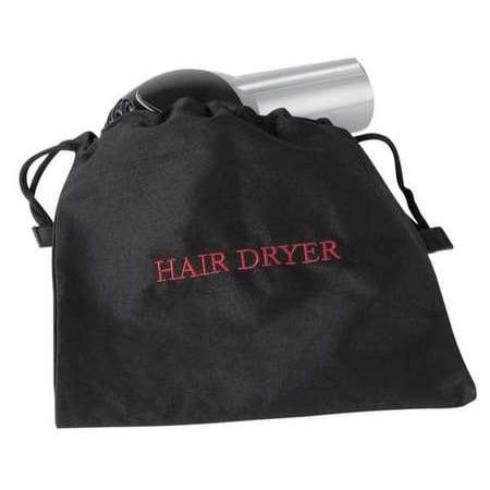 Hospitality 1 Source Black Hair Dryer Bag,12 x 12