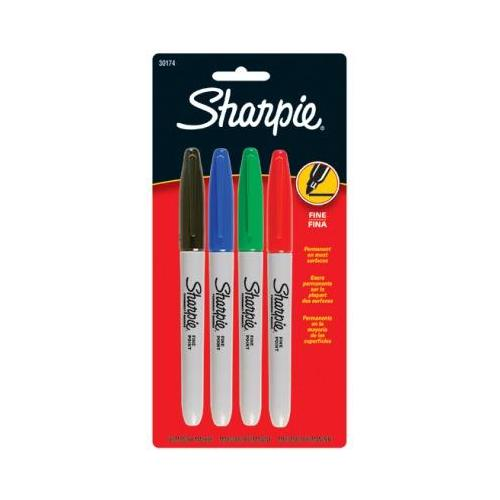 SHARPIE FINE 4 COLOR SET CARDED SCBSAN30174PP-21 (pack of 21)