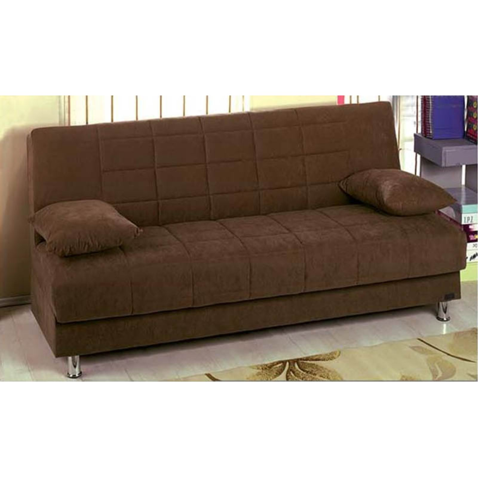 Empire Furniture USA Hamilton Modern Armless Convertible Sofa