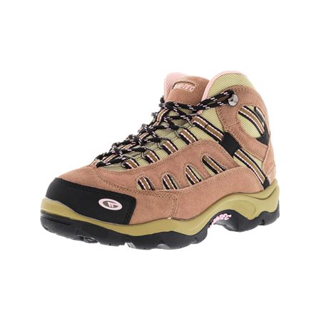Hi-Tec Women's Bandera Mid Waterproof Taupe / Blush Mid-Top Suede Hiking Boot -