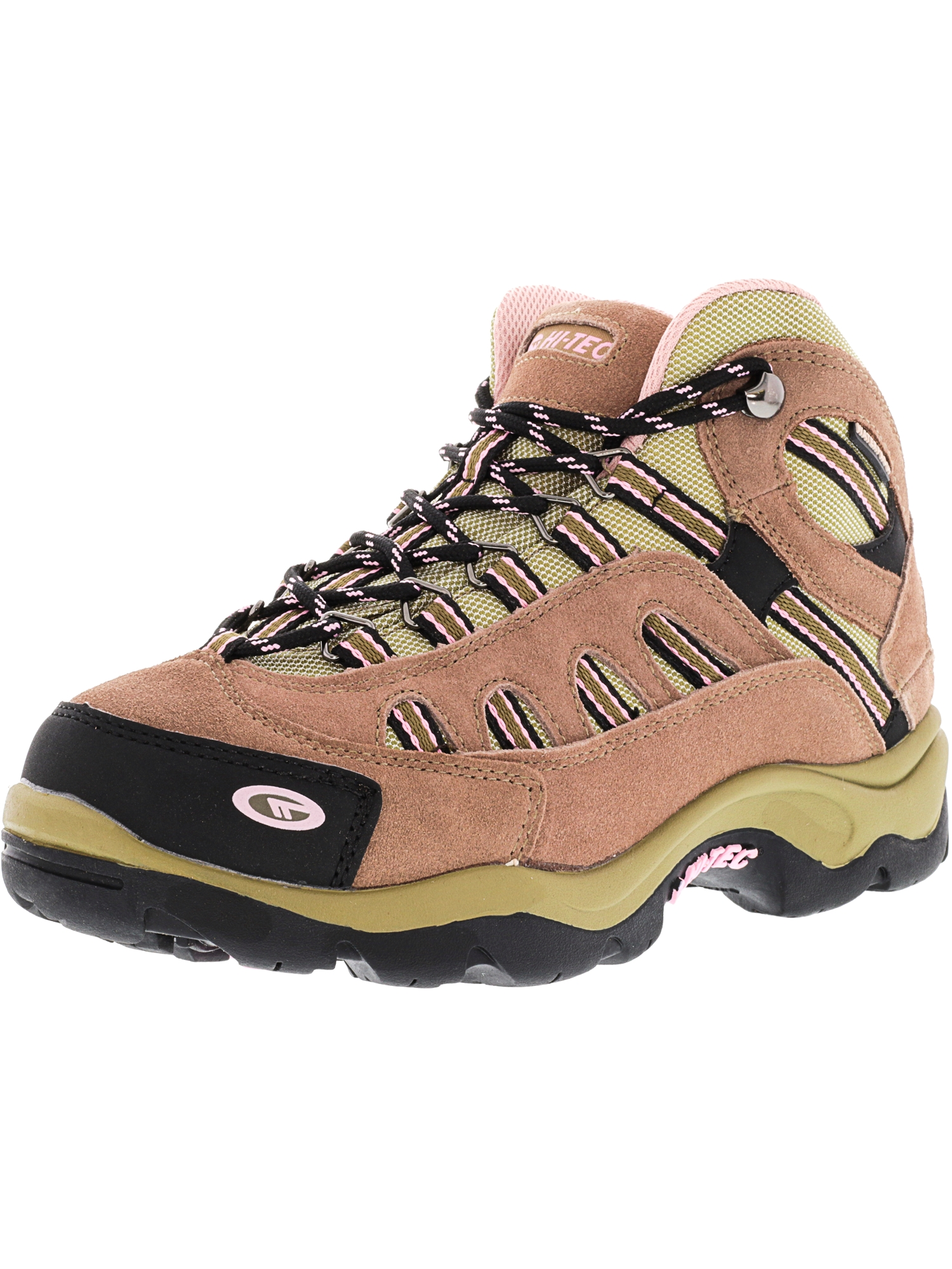 Hi-Tec Women's Bandera Mid Waterproof Taupe   Blush Mid-Top Suede Hiking Boot 6M by Hi-Tec