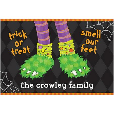 Personalized Halloween Doormat - Trick or Treat - Halloween Math Ideas For Preschoolers