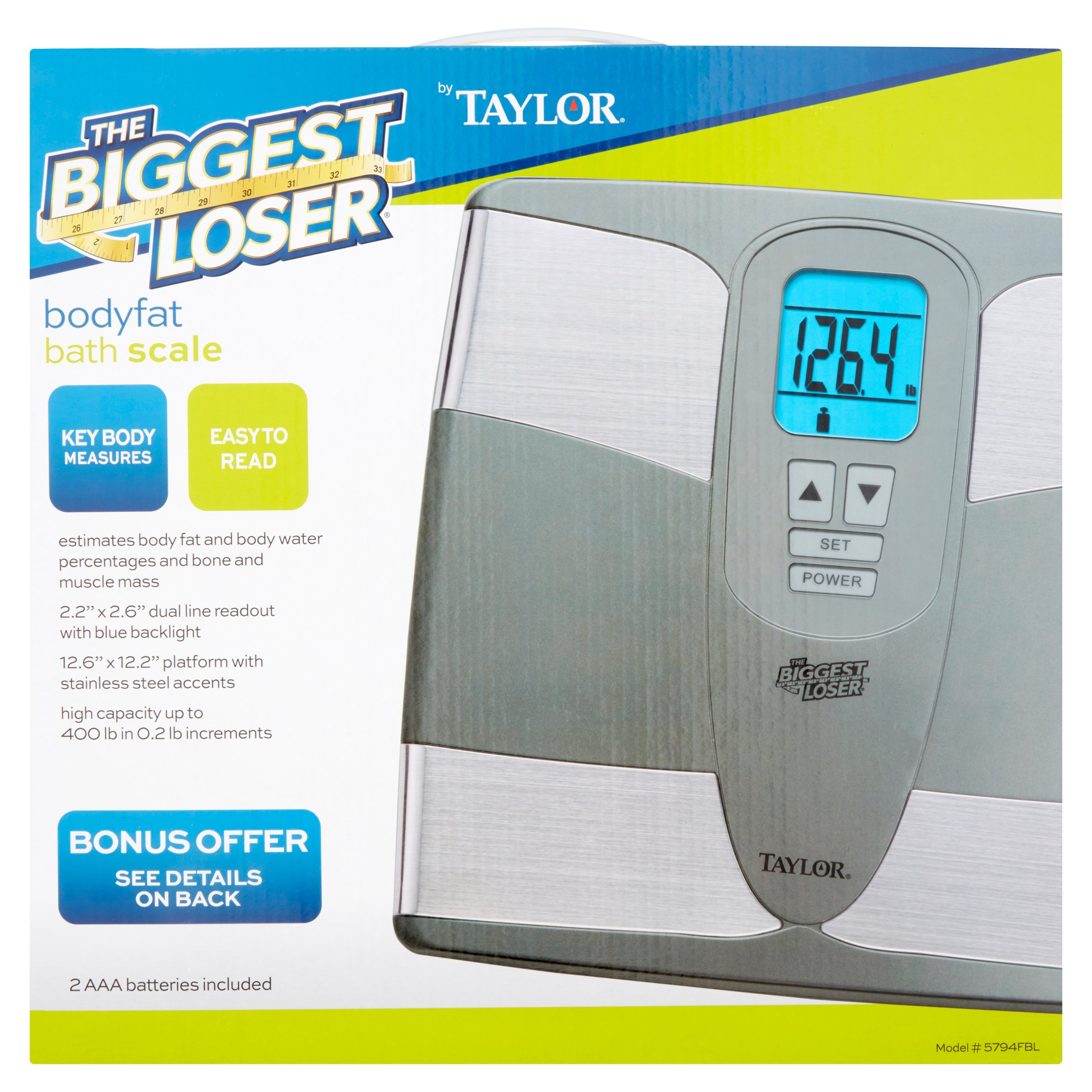 Taylor The Biggest Loser Bodyfat Bath Scale by Taylor Precision Products, Inc.