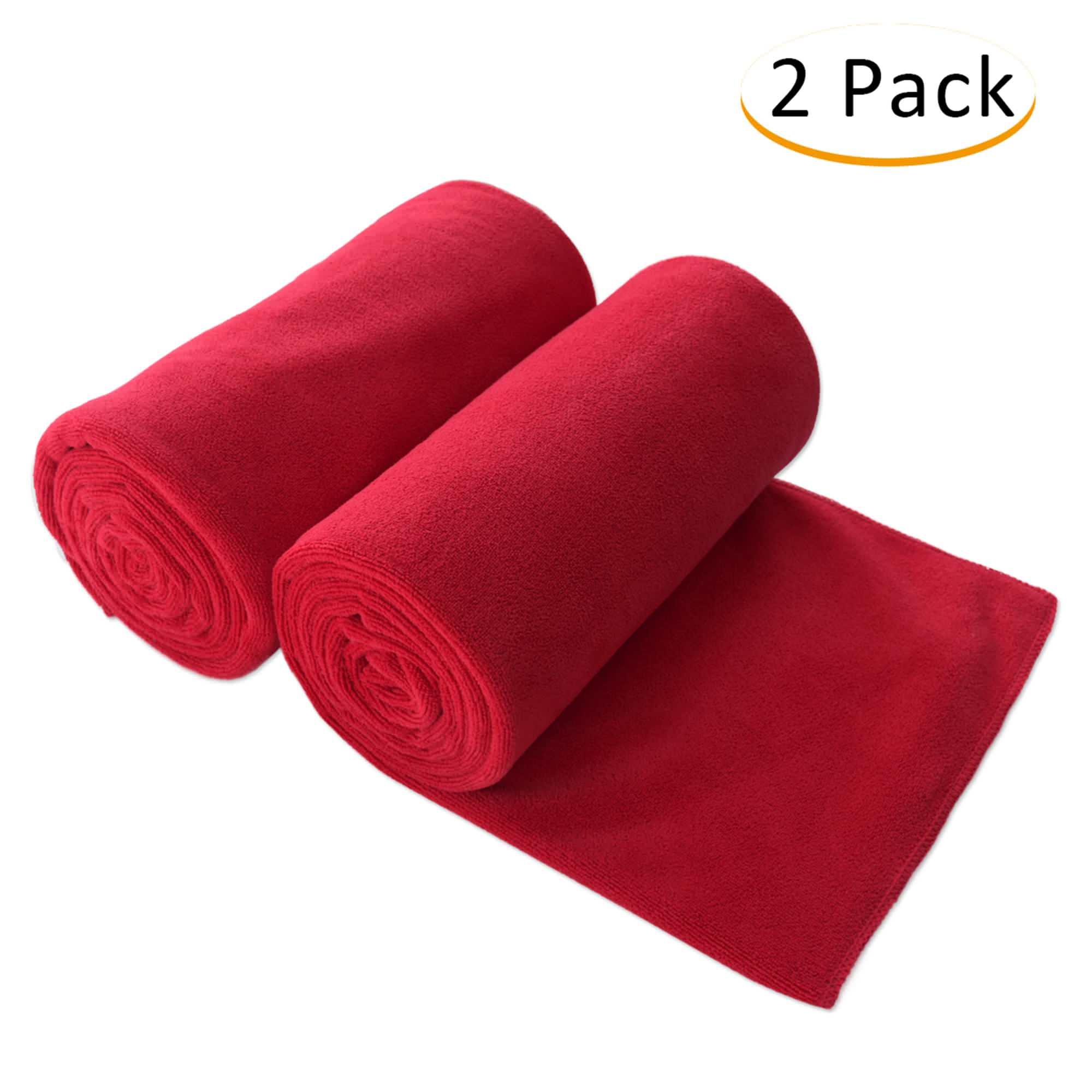 "JML Bath Towel, Microfiber 2 Pack Towel Sets (30"" x 60"") Extra Absorbent, Fast... by JML"
