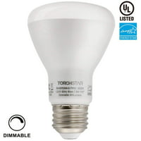 TORCHSTAR LED Flood Light Bulbs, 7.5W Dimmable BR20, 4000K Cool White