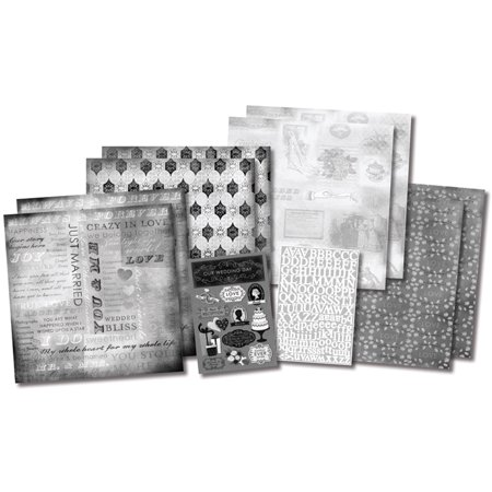 """Karen Foster Scrapbook Page Kit 12""""X12""""-Our Wedding Story - image 1 of 1"""