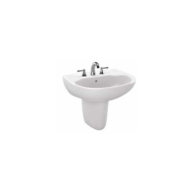 Lht242g01 Prominence Wall Mount Bathroom Sink With Single Faucet Hole Cotton White Walmart Canada