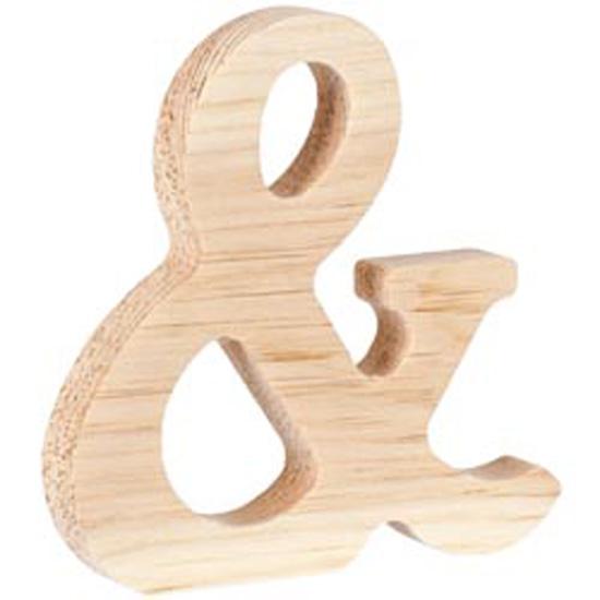"& - Wood Letter 5"""