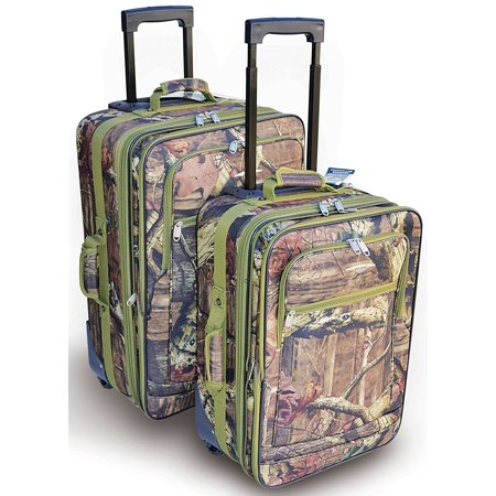 Explorer Mossy Oak -Realtree Like- Hunting Camo Heavy Duty Luggage with Pulling Handles & 2 Wheels 20