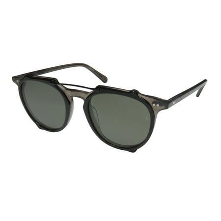 New Sunday Somewhere Odin Womens/Ladies Aviator Full-Rim 100% UVA & UVB Black Authentic Aviator Famous Designer Modern Frame Grey Lenses 50-20-145 Sunglasses/Sun (Sunray Sunglasses)