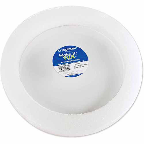 "Floracraft Styrofoam Wreath, 12"" x 1-1/4"", 1/pkg, White"