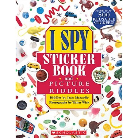 I Spy Sticker Book and Picture Riddles - Halloween Riddles For Children