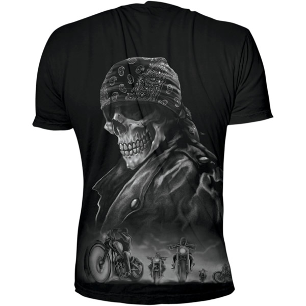 Lethal Threat Biker From Hell Mens Short Sleeve T-Shirt Black