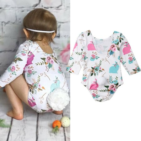 Hot Sale ! ! Easter Bunny Newborn Baby Girls Rabbit Romper Jumpsuit Bodysuit Outfits Clothes Fit For 3-18M
