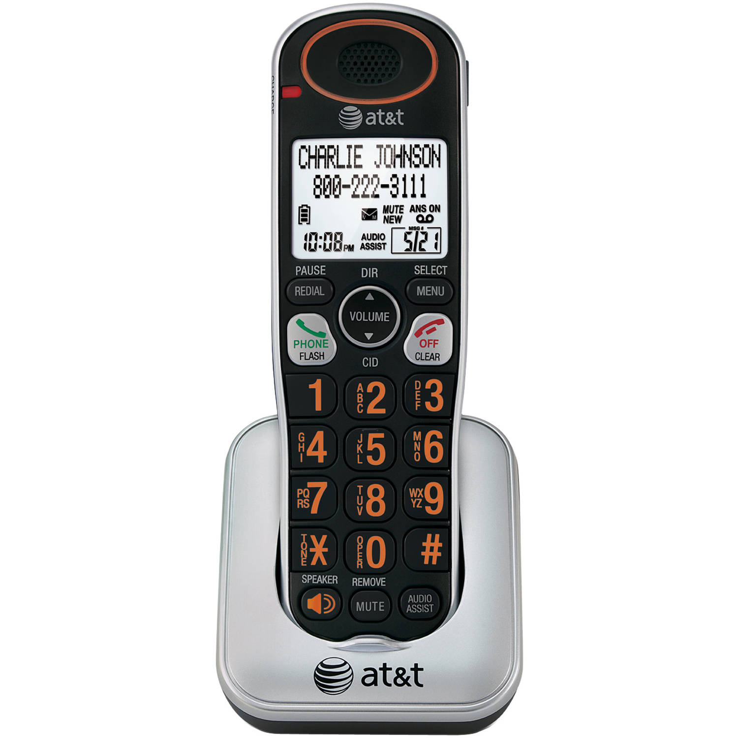 AT&T TL30100 Handset / Charger Large Backlit LCD Display Eco-Friendly Phone