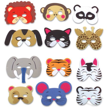 Set of 12 New Halloween Costume Party Foam Animal Masks