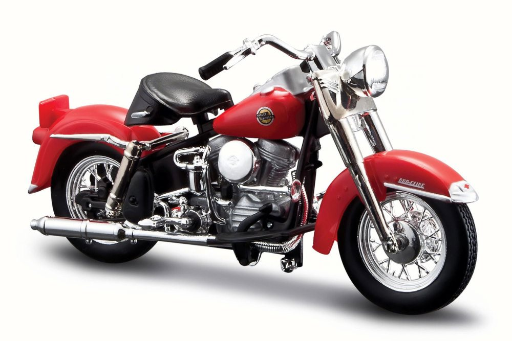 1958 Harley-Davidson FLH Duo Glide, Candy Apple Red Maisto 31360-33 1 18 Scale Diecast... by Harley Davidson