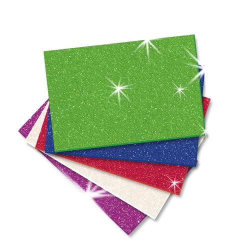 Self-Adhesive Foam Glitter Sheets, 5-Pack