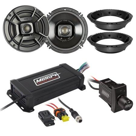 4 Zone Audio Controller Amplifier - Metra PowerSports IPX6 Marine 4-Channel Compact Amplifier, Polk Audio 6.5