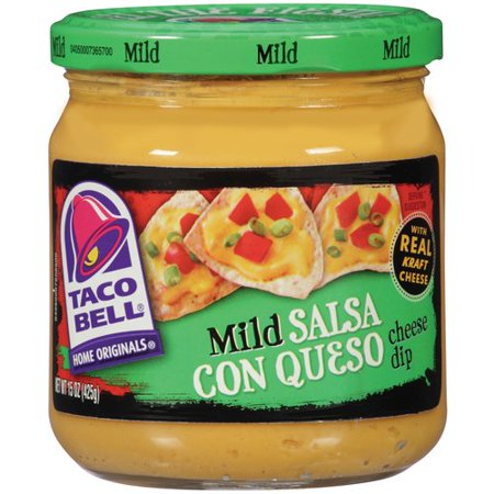 Easy Halloween Dips ((2 Pack) Taco Bell Mild Salsa Con Queso Cheese Dip, 15 oz)