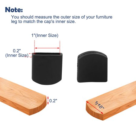 "Desk Table Leg Caps End Tip Home Furniture Protector 9pcs 0.2""x1"" (5x25mm) - image 3 de 7"