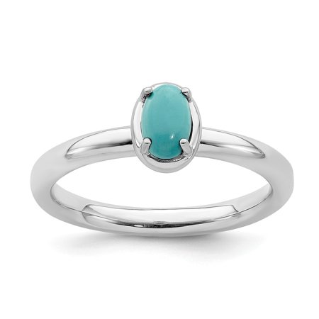 Roy Rose Jewelry Sterling Silver Stackable Expressions Turquoise Ring Size 7