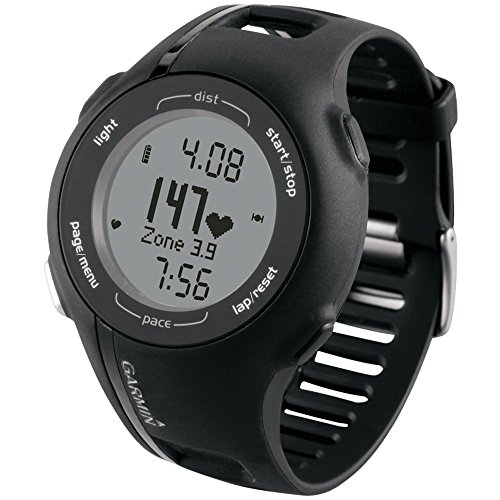 Garmin Refurbished Forerunner 210HRM GPS Fitness Watch with Heart Rate Monitor, Black